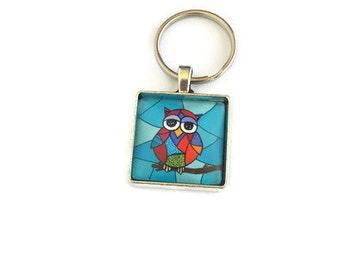 Keychain, owl, owl keychain