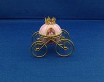 Limoges Cinderella Coach Trinket Box with Glass Slipper