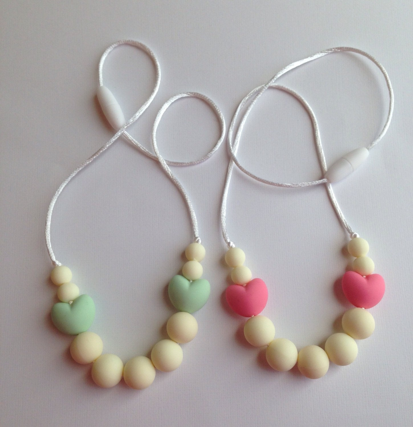 Beads Necklace Beads: Toddler Silicone Necklace Silicone Teething Beads Little