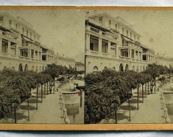 ca. 1860 - STEREOGRAPH - LAKE of COMO, Cadenabbia, Italy. Stereoscopy. Photography. Over 150 years old.