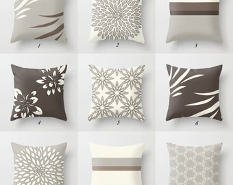 beige pillow brown pillow covers greige pillow gray pillow neutral pillows