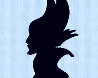 Maleficent Embroidery Design