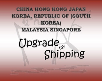 International Shipping with Tracking to ASIA, Postage upgrade,Tracked shipping, Shipping add on from Australia Post