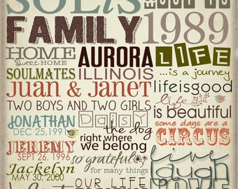 Personalized Word Art (Family, Baby, Child, Engagement, all occasions)