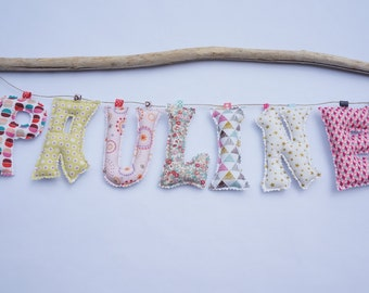 Garland first name / fabric letter / letter Garland / decoration