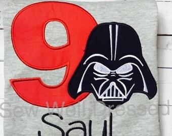 Darth Vader Birthday Shirt / Star Wars Birthday shirt / Boys / Girls / Personalized /