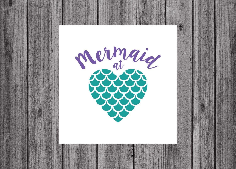 Mermaid Decal Mermaid At Heart Decal By Jonialexisdesigns