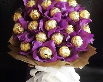 Ferrero Rocher Chocolate Bouquet-Hapmer, Birthdays, Weddings, Special Occasions