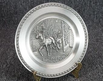 "1979 Weihnacten 7 1/2"" Pewter Collector's Plate"