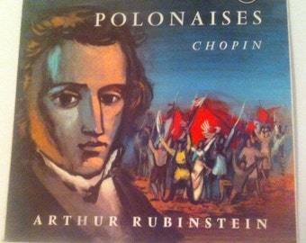 "Vinyl ""Polonaises"" de Frederic Chopin / Arthur Rubinsten / 70's /Classical music/pianist/composer"
