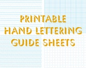 Hand lettering Practice sheets Worksheets Custom handwriting Calligraphy Downloadable Printable Templates Patterns & How To Tutorials DIY