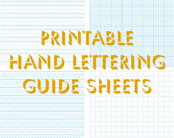 hand lettering practice sheets, hand lettering worksheets, custom handwriting, calligraphy, lettering, downloadable, printable, templates