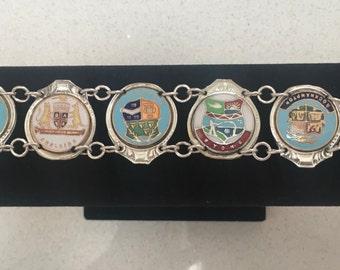 Australian Medallion silver spoon bracelet.