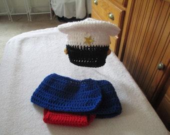 Marine Corps Crocheted Hat,and Diaper-Skirt