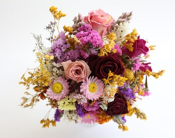 Special dried flowers bouquet. Handmade Wedding bouquet, natural flowers only.