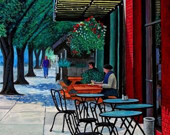 Corvallis Street Scene- Painting