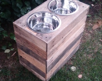 """Extra Tall (18"""") Dog food Stand"""