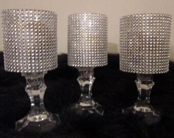 Set of 3 votive ,tea light, candle holder
