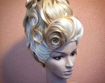Victorian roccoco style wig antoinette order  (choice your color want or mixed colors)