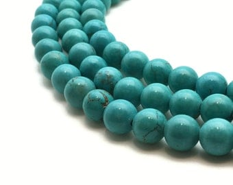 8mm Natural Turquoise Beads Round 8mm Turquoise 8mm Turquoise Beads 8mm Blue Beads 8mm Turquoise Round Turquoise Blue Round Blue