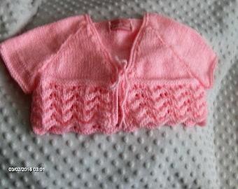 knitted girls bolero