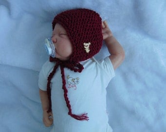 Chunky knit baby bonnets