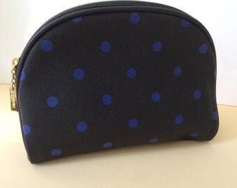 Guerlain cosmetic bag,vintage,black with blue.paris