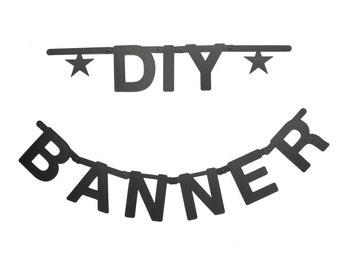 DIY Letter Banner