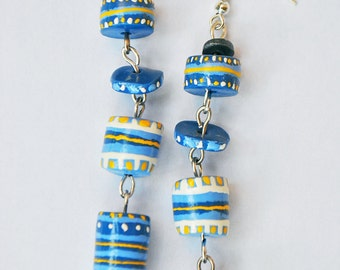Blue chandelier / earrings