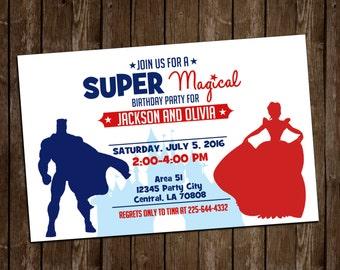 SUPER Magical Birthday Invite