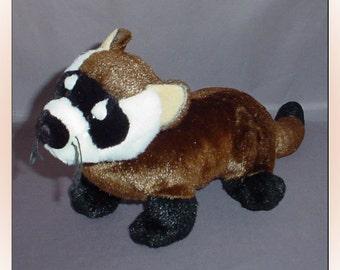 Black Footed Ferret Plush Gund Stuffed Animal 1990s