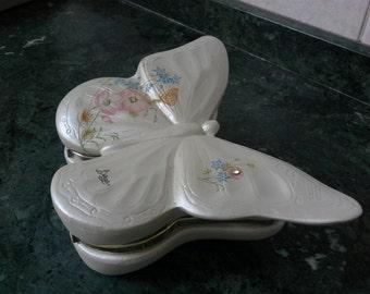 Italian porcelain butterfly Jewelry box
