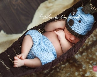 Crochet puppy outfit, newborn photo props, baby puppy outfit, baby costumes, baby animal costumes, baby animal outfit, crochet dog outfit,