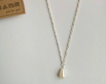 Bridesmaid Keepsake Gift, Bridesmaid Necklace, Thank You Gift, Teardrop Necklace, Wedding Jewelry, Gift For Her