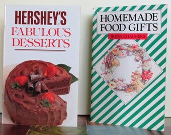 "Vintage Cookbooks:  ""Hershey's Fabulous Desserts"", 1989 & ""Homemade Food Gifts"", 1979"