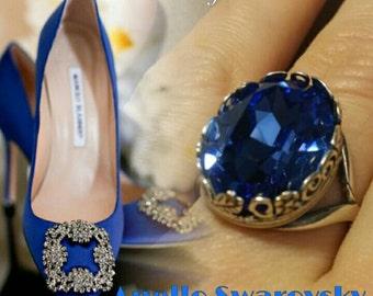SWAROVSKI BLUE RING