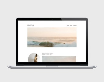 RESPONSIVE BLOGGER TEMPLATE - Relative - Very Simple, Minimalist, Affordable