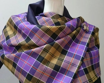The Culloden stole. A limited edition item created in a pure wool Culloden Ancient tartan. Fully lined and  hand made with care in the UK