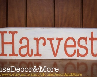 Reclaimed wood harvest sign/Autumn harvest sign/Fall Wooden Harvest Sign/Rustic Harvest Sign/harvest sign