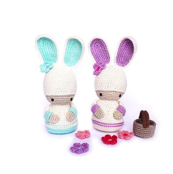Crochet Pattern For Yoda Doll : BUNNY Crochet Pattern Kokeshi Doll