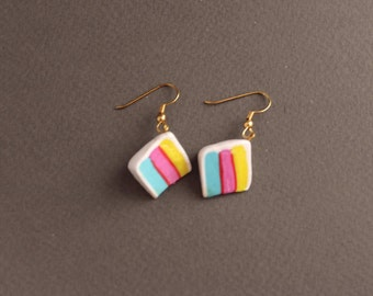 Iced Multi-Layer Cake Fimo/Polymer Clay Earrings