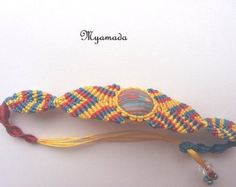 Colored micro macrame bracelet