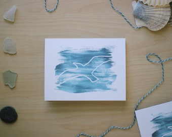 Within The Storm - ocean inspired handmade greeting card from Cape Cod