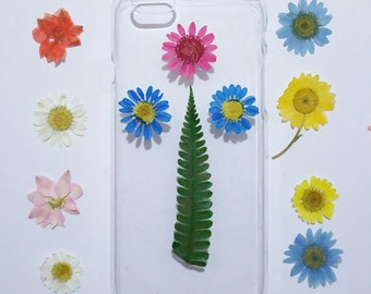 iPhone 4s Case floral, iPhone 4s Case Clear, Pressed Flower iPhone 4 Case, Clear iPhone 4s Case, flower iPhone 4s Case, daisy iphone case