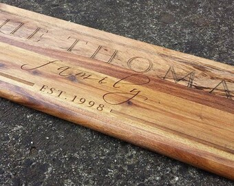Personalised Long Cheese Serving Board Design 12
