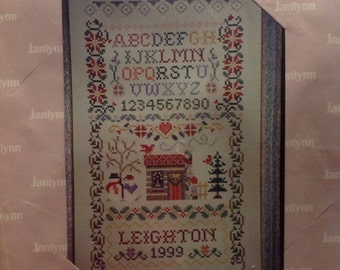 Janlyn counted cross stitch sampler