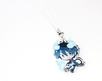 Rin Okumura - Ao No Exorcist Double Sided Front & Back Anime Charm with Phone Strap