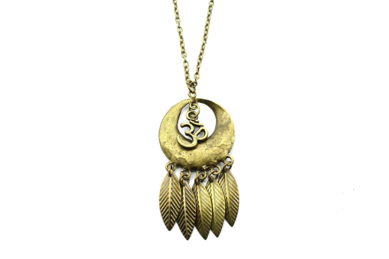 bronze om necklace bronze chain necklace choker necklace