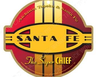 Santa Fe Railroad Logo Wood Plaque / Sign