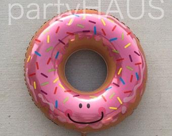 "Donut Balloon, 30"", Dessert, Pink, Sprinkles Balloon, Doughnut, Balloon, Donut Party, Birthday Party, Sweets, Balloons, Party Balloons,"